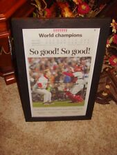 2007 BOSTON RED SOX FRAMED NEWSPAPER WORLD SERIES CHAMPIONS BOSTON GLOBE