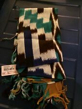 Forever 21 Scarf. Boho Style Cream blue/ brown. One size