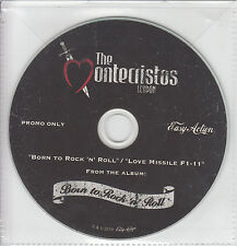 THE MONTECRISTOS Born To Rock & Roll/Love Missile F1-11 UK 2-track promo test CD