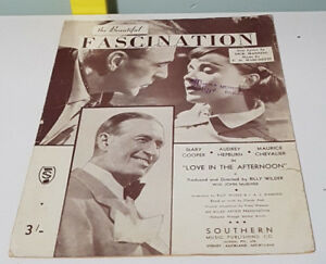 THE BEAUTIFUL FASCINATION SHEET MUSIC! MUSIC BY DICK MANNING & F D MARCHETTI!