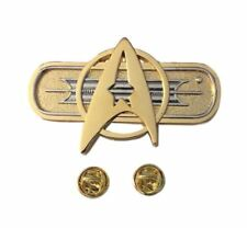 Star Trek Movie Federation Chest Insignia Deluxe Metal Cosplay Pin