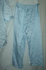 "Repose VINTAGE L 16/18 poly satin pajama set top & pants 48"" chest/hip baby blue"
