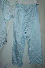 "Repose VINTAGE L 16/18 poly satin pajama set top & pants 48"" chest/hip baby blue"