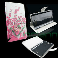 Custodia FIORI di PESCO per HTC Desire 516 cover BOOKLET case STAND UP libretto