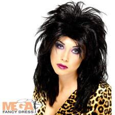 80s Pop Star Wig Ladies Fancy Dress Rock Star Celebrity Costume Accessory Wig