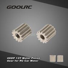 GoolRC 2Pcs 48DP 3.175mm 13T Motor Pinion Gear for RC Car Brushed Motor B0M3