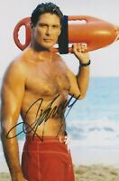 David Hasselhoff   **HAND SIGNED**  12x8 photo  ~  AUTOGRAPHED  ~  Baywatch
