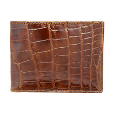 IRREGULAR Distressed Medium/Large Tile Cognac Genuine Alligator Wallet US MADE