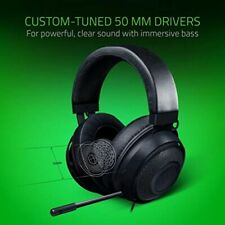 Razer Kraken - Gaming Headset with Cooling Gel Earpads for Ambitious Gamers - Bl