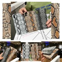 Luxury Slim Snake Skin Case Cover For iPhone 12 MINI PRO MAX 11 8 XS MAX XR SE