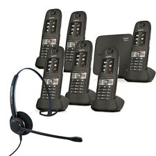Cordless Phone Gigaset E630A 6 Handsets w Answer Machine and Corded Headset