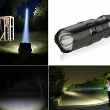 3W Super Bright Police LED Flashlight Light Lamp With Clip Clamp Electric Torch