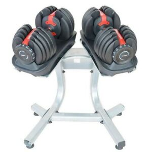 NEW Pair of 20kg/40kg Each Adjustable Dumbbellswith Rubber Under
