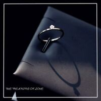 Schmaler Damen Ring mit Zirkonia Silber Rosegold Farbe Dünn