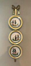 """Vertical Wall Holder Rack Display, Heavy Brass, for Three 6""""or 7"""" plates"""