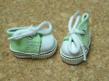 """Doll Shoes 31mm Lt Green Sneakers, custom for 6"""" Kelly, 8"""" Lil Innocent, Patsy"""