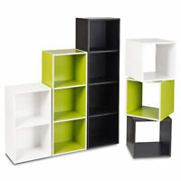 1, 2, 3, 4 Tier Wooden Bookcase Shelving Display Cube Shelves Storage Unit
