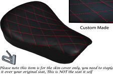 DIAMOND STITCH BRGHT RED CUSTOM FITS HARLEY SPORTSTER 883 48 72 RIDER SEAT COVER