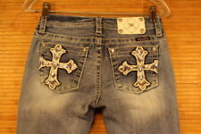 womens miss me jeans CUFFED CAPRI size 25X191/2 GREAT preowned condition #498