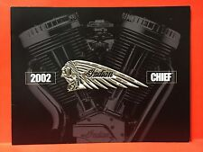 "INDIAN MOTORCYCLE 2002 ""DELUXE CHIEF"" SALES  BROCHURE ~ 8 1/2"" x 11"" ~ PRISTINE"