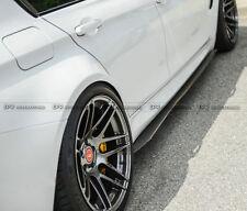 New 2pcs Side Skirt Extension Kit Panel For BMW F82 F83 M4 3D Style Carbon Fiber
