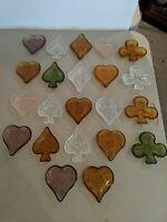 Huge Lot Poker Bridge Set Candy Dish Nut Tray by Tiara Indiana Glass Sandwich