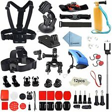 60 in1 Essential Accessory Bundle Kit for Gopro Hero5 4 3+3 2-Sports Outdoor Kit