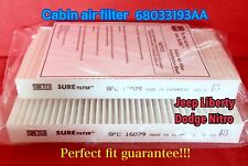 C16079 Cabin Air Filter For DODGE Nitro 2008-11 Liberty 2008-12 CF10747 49093