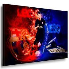 FC Barcelona Messi Leinwandbild AK Art Bilder Mehrfarbig Wandbild  TOP Geschenk