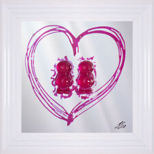 FEMALE COUPLE MIRROR | Jelly Baby 3D Liquid Art | 55 x 55cm White Frame Lesbian