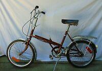 "Raleigh Folding Bicycle Bike Vintage 3 Speed 20"" Sturmey Archer England"