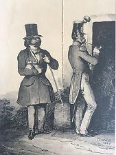Lito XIX Firmado Toussaint Charlet Nicolas Un infame Vergüenza coladores,