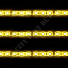2 WARM WHITE 100cm 60 LED 5050 SMD Flex Strip Waterproof 12V Light Car House