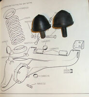 (Pair) TRIUMPH TR6 Rear SUSPENSION BUMP STOPS Buffers (x2) * CHECK CHASSIS No/ *