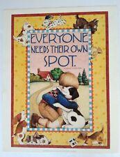 Mary Engelbreit Poster Print 16 x 20 Everyone Needs Their Own Spot