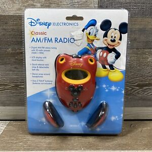 Disney Classic Portable Radio Red Mickey Mouse DR1000-C 2003 Classic