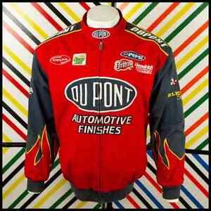 CHASE AUTHENTICS Dupont NASCAR Race JACKET Red/Grey Size Large 384 O