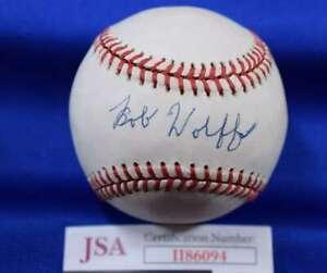 Bob Wolff JSA Coa autograph Mets Signed Baseball