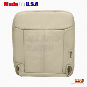 2003 To 2011 Lincoln Town car Cartier-Driver Side Bottom Leather Seat Cover Tan