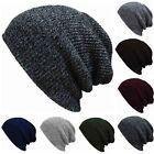 Men Slouch Skull Cap Oversize Long Beanie Women Baggy Cap Crochet Knit Ski Hat