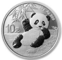 2020 China Silver Panda 30g Ag 999 Coin 10 Yuan Chinese bullion - JD807
