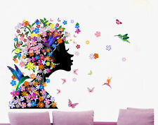 Butterflies Flower Fairy Girl Vinyl Decal Wall Sticker Mural Art Home Decor USA