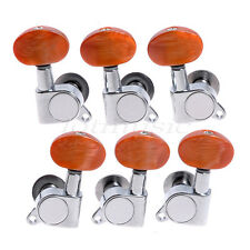 Guitar Machine Heads 3L3R Amber Pear Button Gold Acoustic Guitar Tuning Pegs