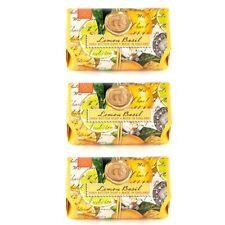 Set/3 Michel Design Works Large 8.7 oz Artisanal Bar Bath Soap Lemon Basil - NEW