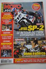 MOTO JOURNAL 1504 Test HONDA VTR 1000 SP2 BMW F650 CS 650 Deauville SUZUKI XF SV