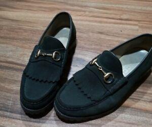 Gucci mens slip on shoes loafers vintage gucci eu42 uk8. Us9