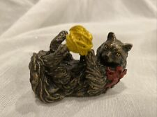 New ListingFranklin Mint Curio Cabinet Cats Collection 1988 Vienna Bronze Cat Figurine