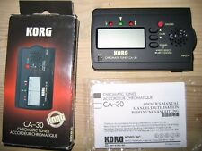 Korg CA-30 chromatic tuner original box & user manual