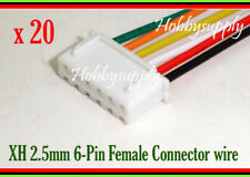XH 6-Pin 2.5mm Female Connector Housing plug with 26AWG 300mm wire for PCB x 20