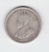 1917 Sterling Silver Shilling Coin Australia King George K-594